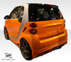Extreme Dimensions 2008-2013 Smart ForTwo Duraflex FX Rear Lip Under Spoiler Air Dam - 1 Piece
