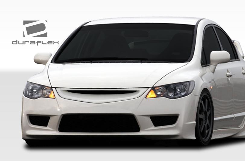 Duraflex 107736 | Honda Civic 4DR Duraflex JDM Type R Conversion Front  Bumper Cover 1 Piece; 2006 2011