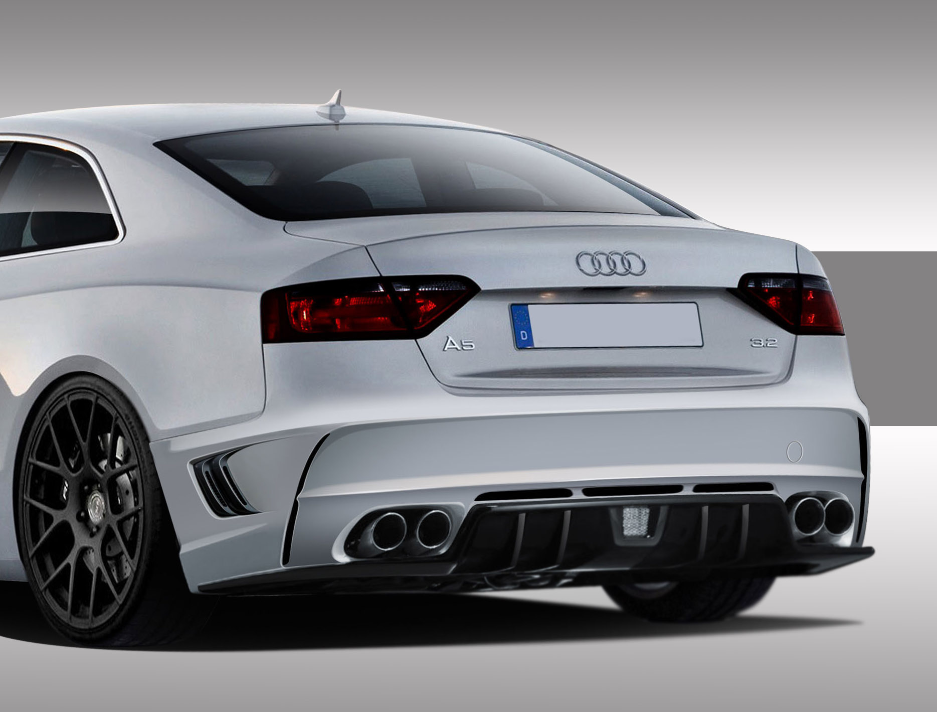 Audi A S Eros Version Rear Bumper Cover Piece - Audi a5 car cover