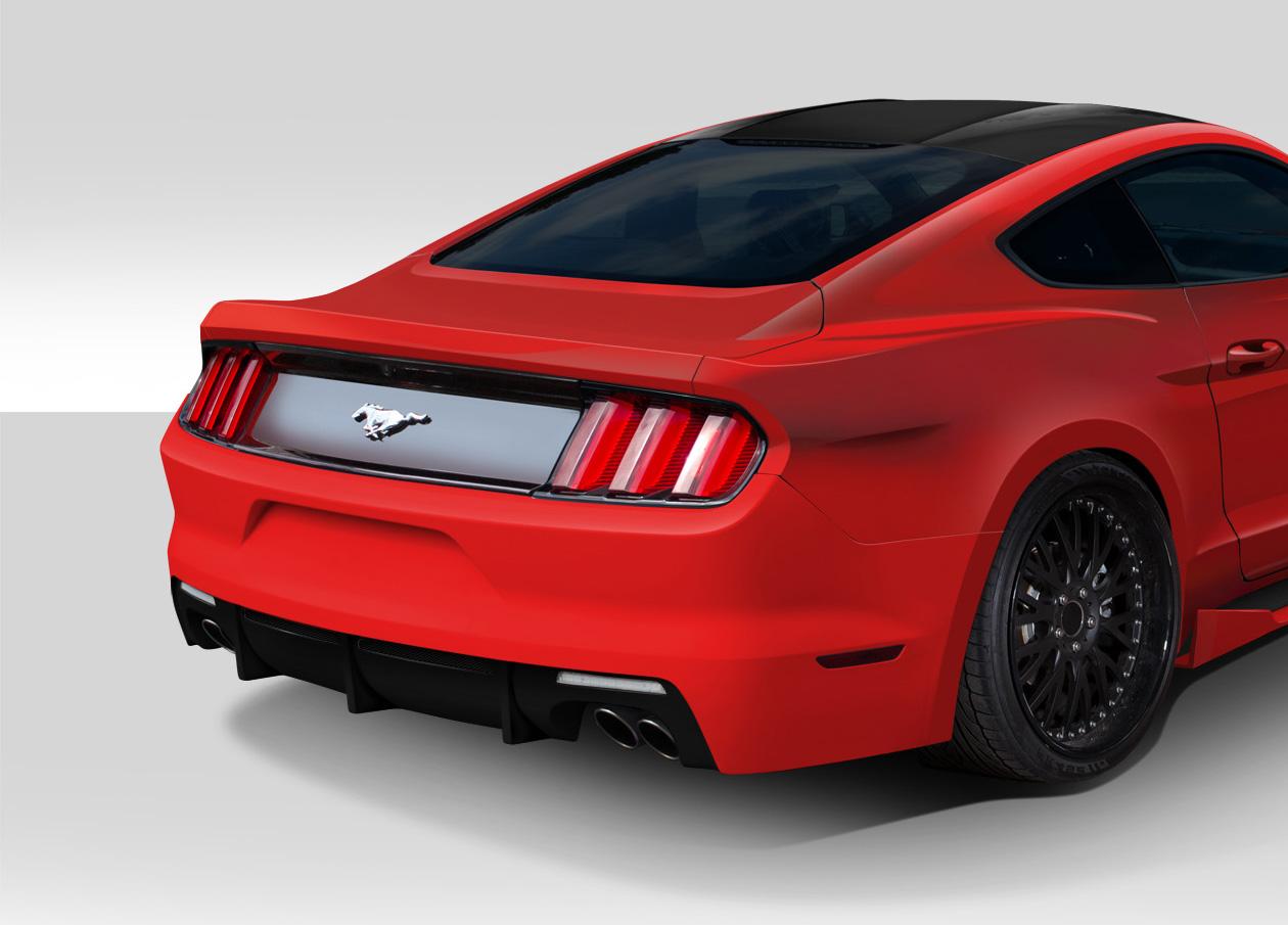 Duraflex 112564 2015 2016 ford mustang duraflex grid rear bumper cover 1 piece