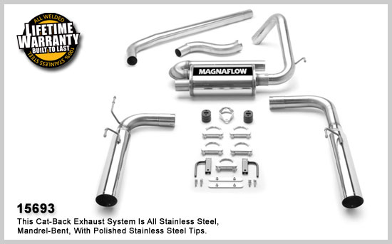 magnaflow 15693  exhaust system for firebird v6 1998