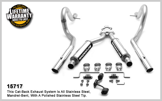 magnaflow 15717  exhaust system mustang 3 8l 99