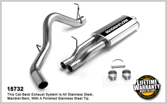 magnaflow 15732  exhaust system for gm silverado  sierra 2500 hd 2001