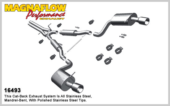 magnaflow 16493  exhaust system for 1997
