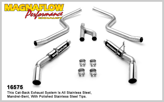 magnaflow 16575  2010 mustang v6 exhaust system v8 style