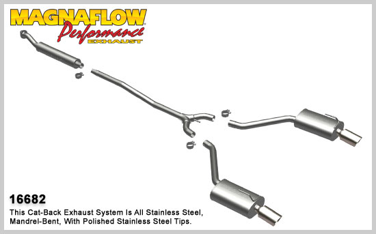 Magnaflow 16682 - Magnaflow Exhaust System for 2002-05 Nissan Altima V6