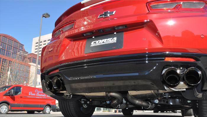 Corsa Performance 14784blk Camaro Ss Zl1 Xtreme Axle Back Exhaust Quad Black