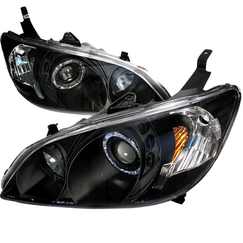 Spec-D Tuning 2LHP-CV04-KS - Spec-D 04-05 Honda Civic Projector Headlights