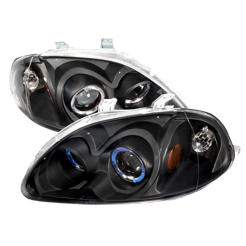 Spec-D Tuning 2LHP-CV96JM-KS - Spec-D 96-98 Honda Civic Projector Headlights