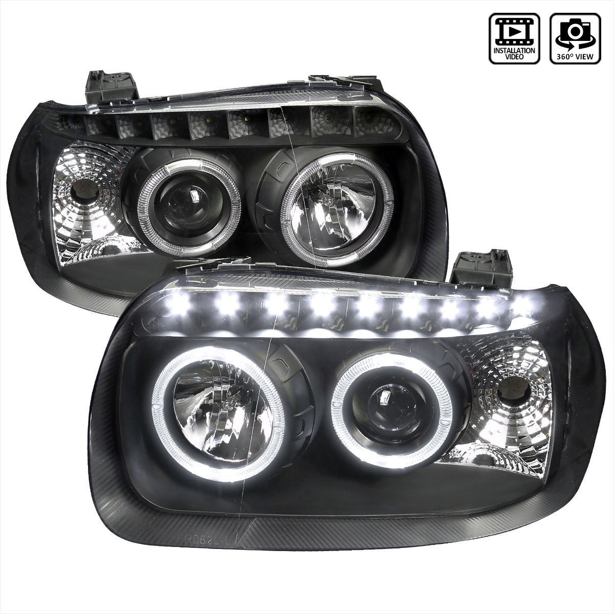 Spec D Tuning 2lhp Ecap05jm Rs Ford Escape Projector Headlight Black Housing 2005 2007
