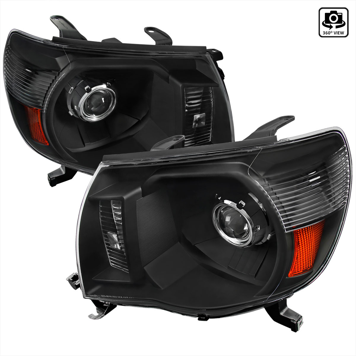 2007 Tacoma Headlights >> Spec-D Tuning (2LHP-TAC06JM-RS) Toyota Tacoma Projector Headlight Black Housing, 05-11
