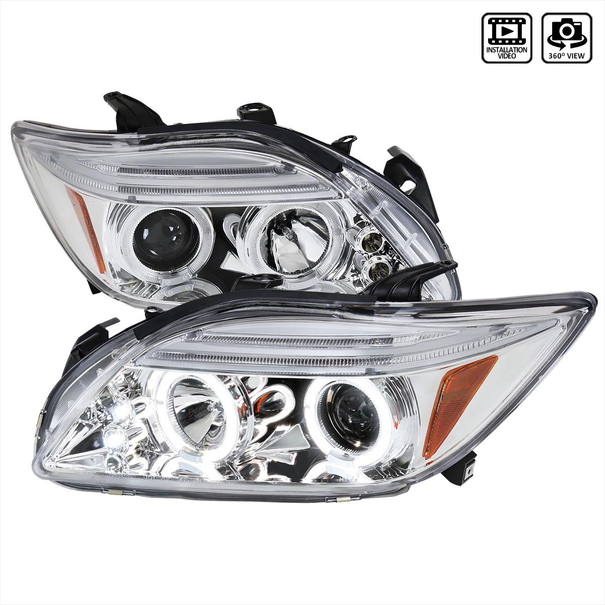Spec-D Tuning 2LHP-TC05-TM - Spec-D 04-06 Scion Tc Halo Projector Headlights