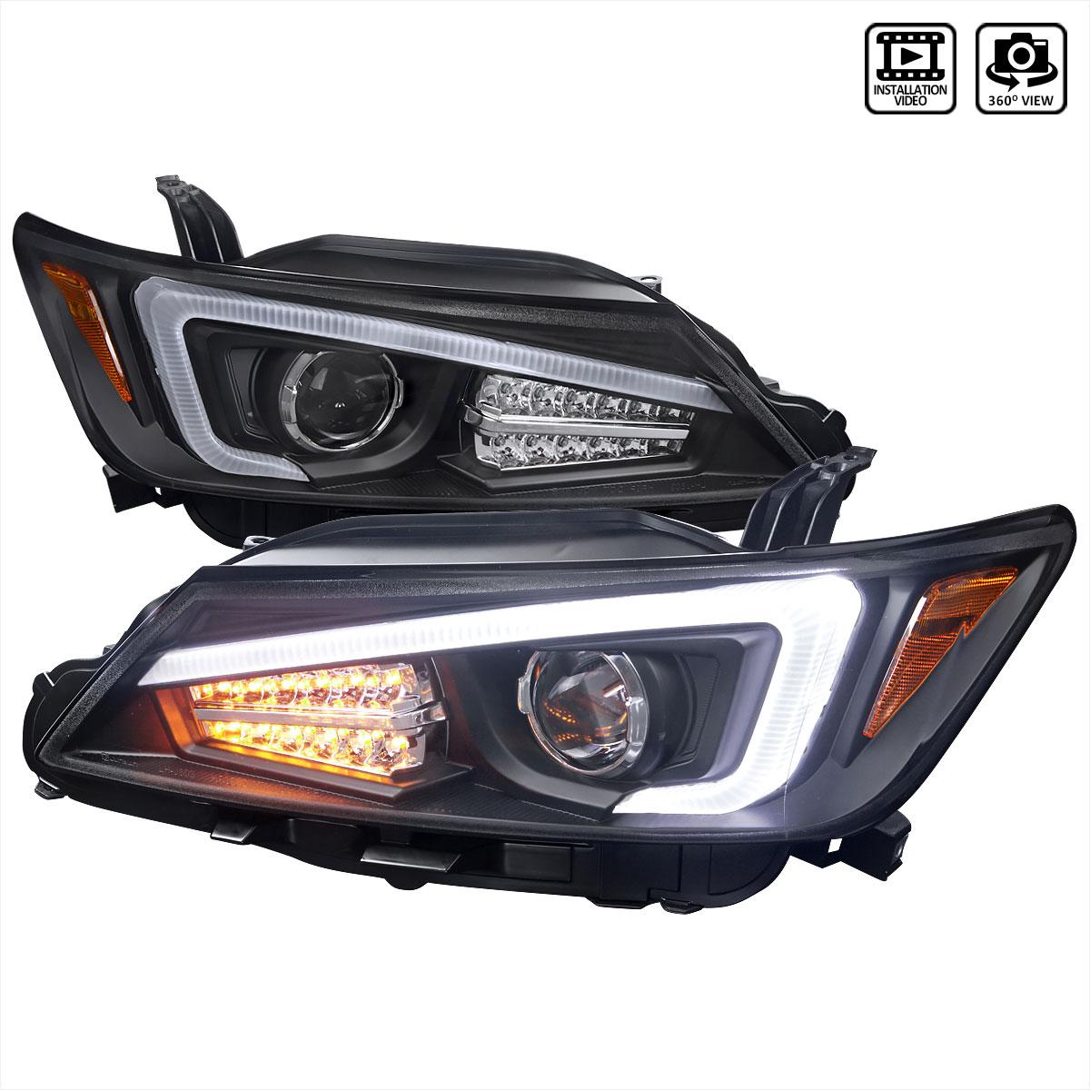 Scion Tc Headlights >> Spec D Tuning 2lhp Tc11jm Tm Scion Tc Projector Headlights With Led Light Bar Black 2011 2013