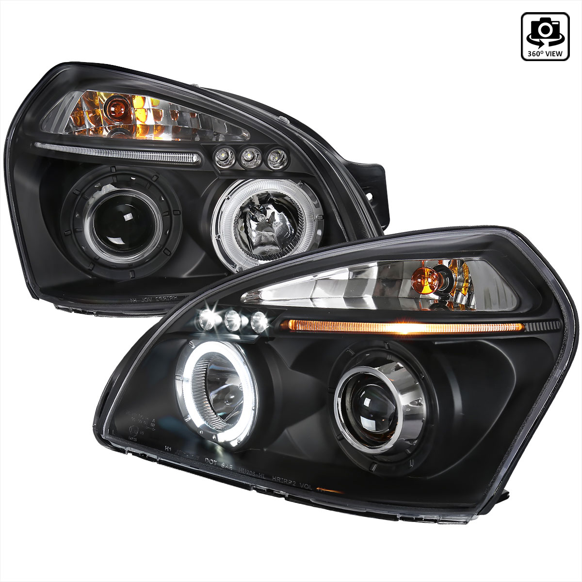 Spec D Tuning 2lhp Tuc04jm Tm Hyundai Tucson Halo Led Projector Black 2004 2007