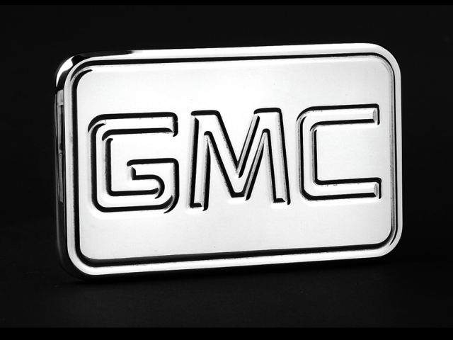 Empire 543P - Empire Plate with GMC Hitch Cover Fits 2 Inch Hitch Receiver Dodge Trucks