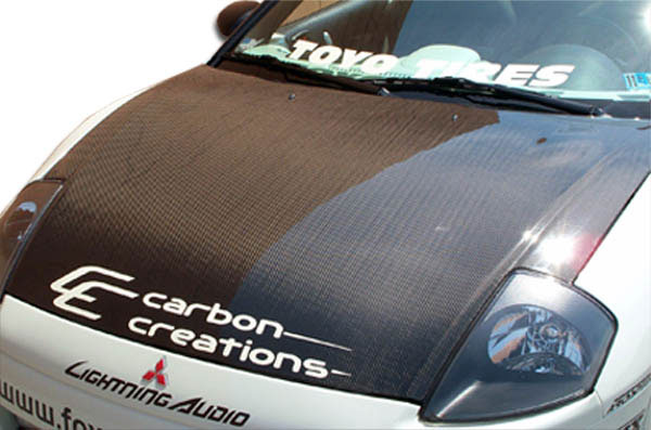Carbon Creations 100029: 2000-2005 Mitsubishi Eclipse Carbon Creations OEM Hood - 1 Piece