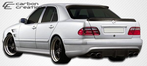 Carbon Creations 105744   Mercedes E Class W210 Carbon Creations Morello Edition Rear Bumper Cover 1-Piece; 2000-2002