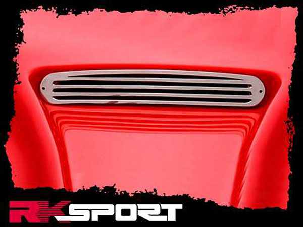 RKSport 01011201 | Camaro Polished Stainless Steel Grill for Competition Hood; 1998-2002