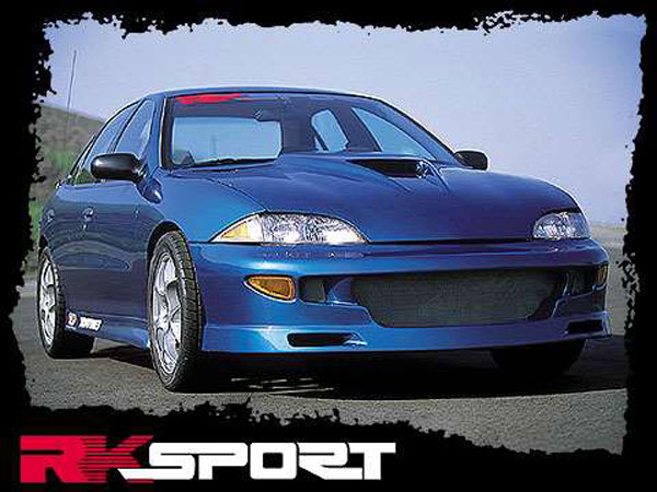 RKSport 02017001:  Cavalier 4 Dr Ground Effects w/Fr & Rr Bumper (Dual Exh Cut-out) 95-99