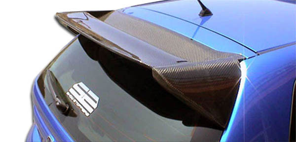 Carbon Creations 102920 | Honda Civic Si HB Carbon Creations Type M Roof Window Wing Spoiler 1-Piece; 2002-2005