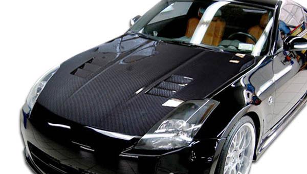 Carbon Creations 100494 | Nissan 350Z Carbon Creations JGTC Hood 1-Piece; 2003-2006
