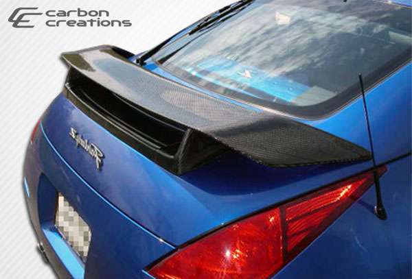 Carbon Creations 102939: 2003-2008 Nissan 350Z 2DR Coupe Carbon Creations N-1 Wing Trunk Lid Spoiler - 1 Piece