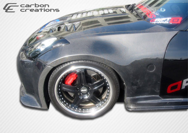 Carbon Creations 102858: 2003-2008 Nissan 350Z Carbon Creations OEM Fenders - 2 Piece