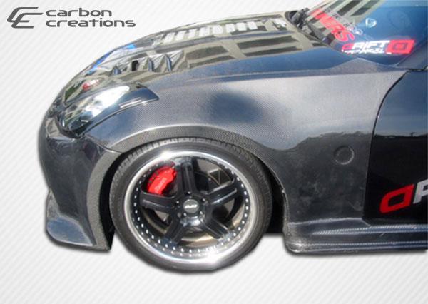 Carbon Creations 102858 | 2003-2008 Nissan 350Z Carbon Creations OEM Fenders - 2 Piece