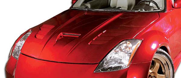 Duraflex 104860 | Nissan 350Z Duraflex Vader Hood 1-Piece; 2003-2006