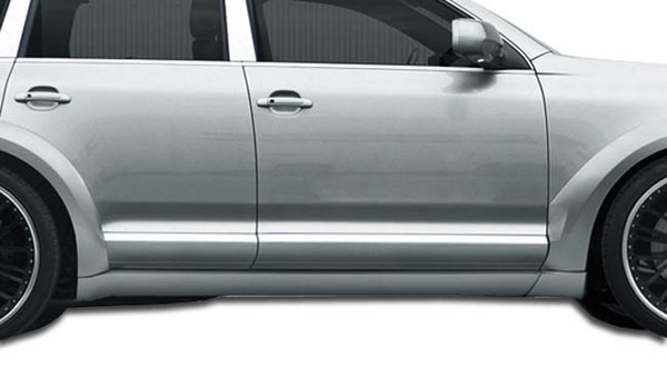 Aero Function 107568:  2003-2010 Porsche Cayenne AF-1 Wide Body Side Skirts ( PUR-RIM ) - 2 Piece