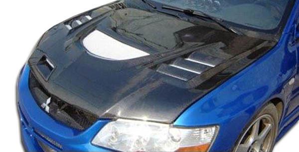 Carbon Creations 103203 | Mitsubishi Lancer Evolution 8 9 Carbon Creations C-1 Hood 1-Piece; 2003-2006