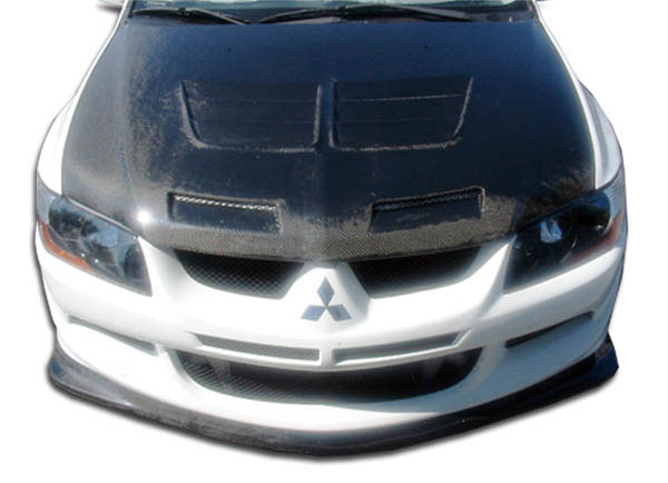 Carbon Creations 102781 | 2003-2005 Mitsubishi Lancer Evolution 8 Carbon Creations Demon Front Lip Under Spoiler Air Dam - 1 Piece