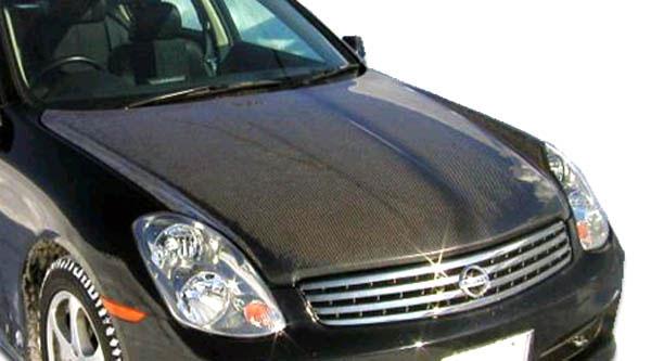 Carbon Creations 104739 | Infiniti G Sedan G35 Carbon Creations OEM Hood 1-Piece; 2003-2004