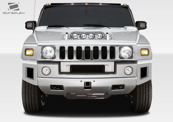 Duraflex 107745 | Hummer H2 Duraflex BR-N Front Add On Bumper Extensions 2-Piece; 2003-2009