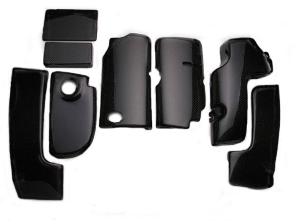 RKSport 04026011   Carbon Fiber Engine Cover 8-piece kit; 1999-2004