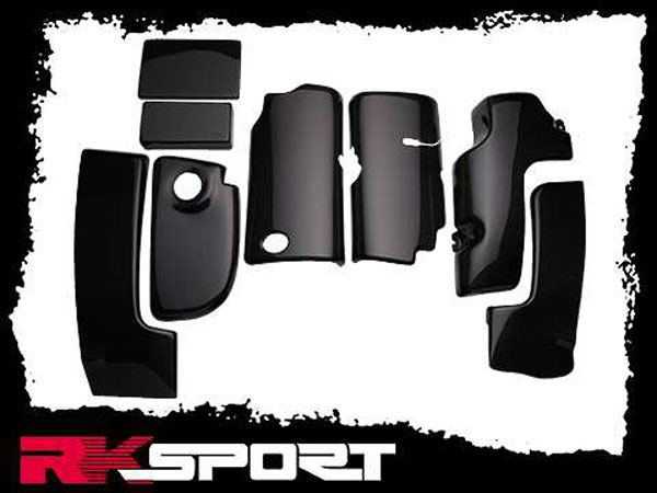RKSport 04027013 | Corvette C5 8-Piece Engine Compartment Kit - Fiberglass; 1997-1998