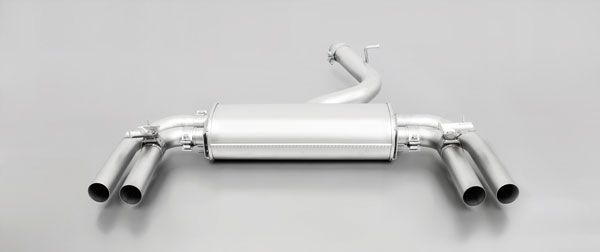 Remus Sport Exhaust 047014 1500 |  AUDI S3 Sport Exhaust Sedan Quattro Axle-Back Centered for left/right systems with Valves