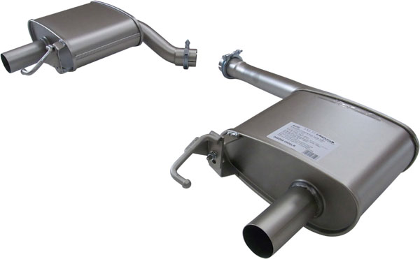 Remus Sport Exhaust (048208 0500LR)  AUDI A4 Sport Exhaust Axle-Back Dual Outlet, 2009-15 2.0L TFSI