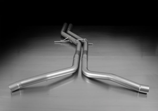 Remus Sport Exhaust (049114 0000) AUDI S4 Race Tube Front Section for Dual Remus Exhaust, 2010-16 Quattro 3.0L 4.2L