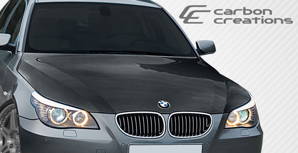 Carbon Creations 106674: 2004-2008 BMW 5 Series E60 4DR Carbon Creations OEM Hood - 1 Piece