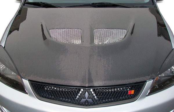 Carbon Creations 104190: 2004-2007 Mitsubishi Lancer Carbon Creations Evo Hood - 1 Piece