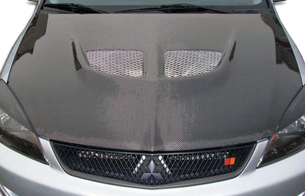 Carbon Creations 104190 | Mitsubishi Lancer Carbon Creations Evo Hood 1-Piece; 2004-2007
