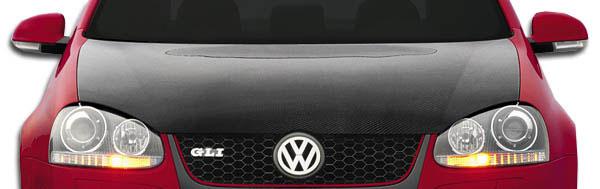 Carbon Creations 105244 | Volkswagen Jetta Golf GTI Rabbit Carbon Creations OEM Hood 1-Piece; 2005-2009