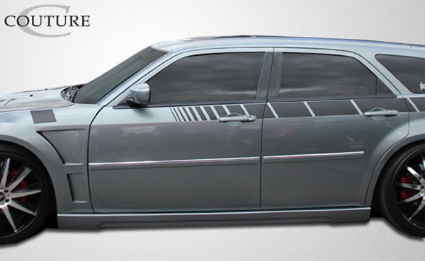 Couture 104809 | Dodge Magnum Chrysler 300 300C Couture Luxe Side Skirts Rocker Panels 2-Piece; 2005-2010