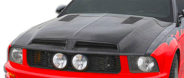 Carbon Creations 106386: 2005-2009 Ford Mustang Carbon Creations GT500 Hood - 1 Piece