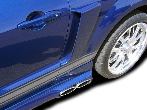 Couture 104798: 2005-2009 Ford Mustang Couture CVX Side Scoop - 2 Piece