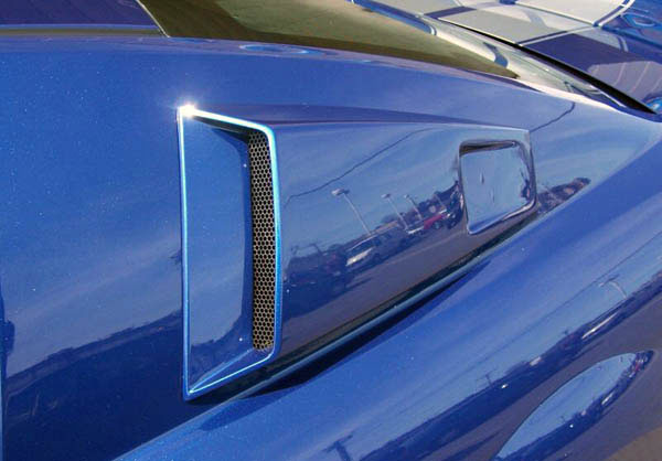 Couture 104797: 2005-2009 Ford Mustang  CVX Window Scoop Louvers - 2 Piece