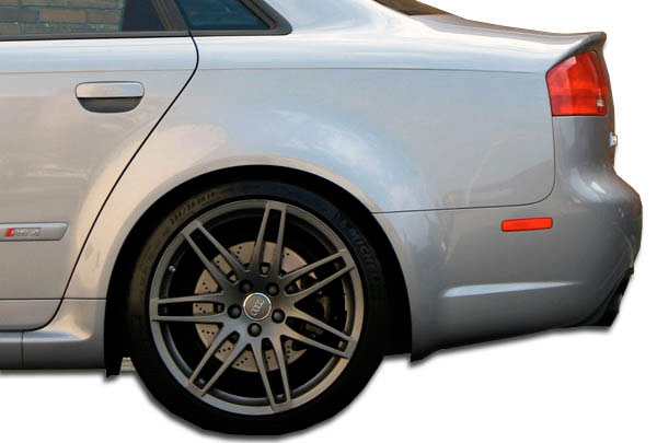 Duraflex 105321 | Audi A4 S4 4DR Duraflex RS4 Wide Body Rear Fender Flares 2-Piece; 2006-2008