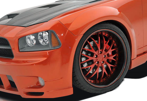 Couture 104815: 2006-2010 Dodge Charger Couture Luxe Wide Body Front Fender Flares - 2 Piece