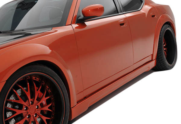 Couture 104813: 2006-2010 Dodge Charger  Luxe Wide Body Side Skirts Rocker Panels - 2 Piece